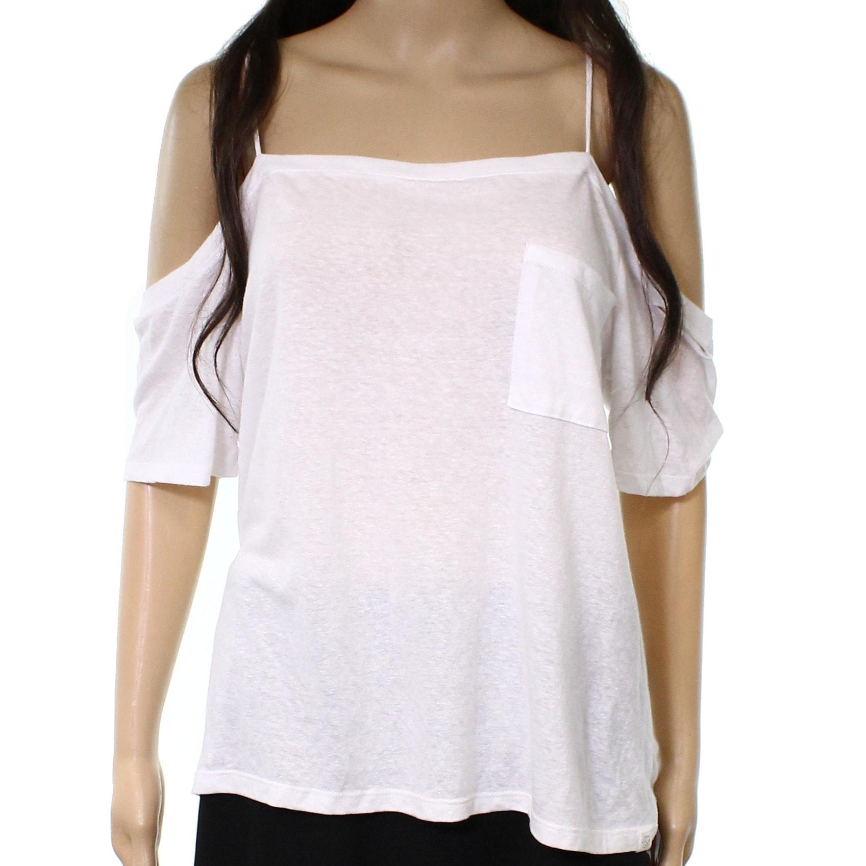55336e66739cb Shop Treasure   Bond Women s Cold Shoulder Tee T-Shirt Top - On Sale ...