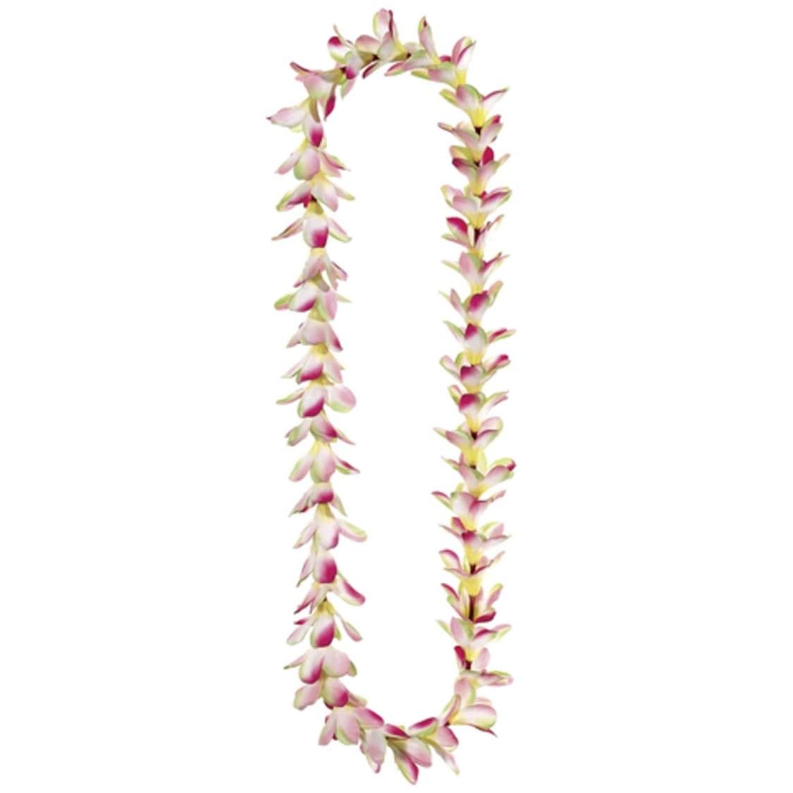 Shop Club Pack Of 24 Artificial Hot Pink Frangipani Silk Flower Leis