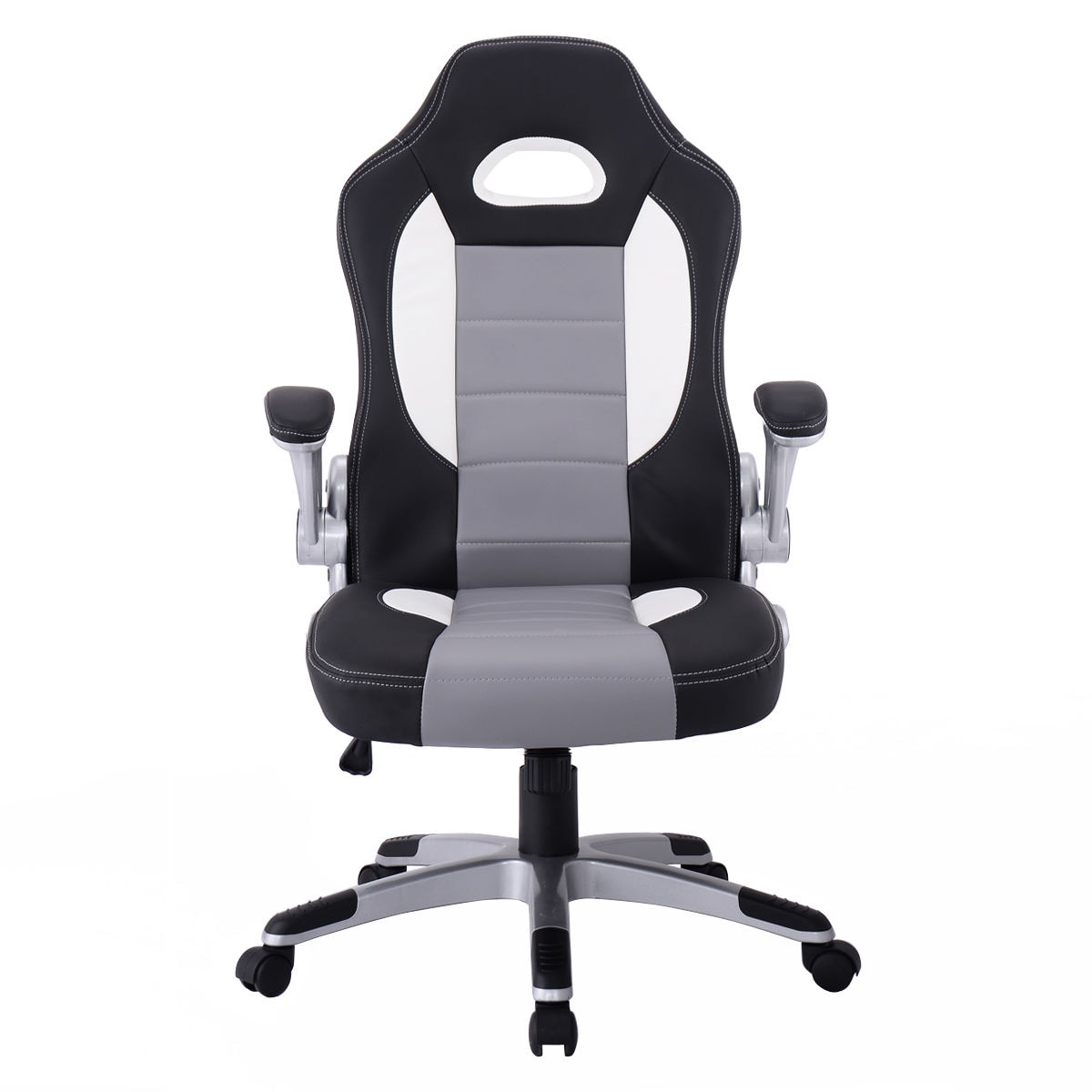 Shop Costway PU Leather Executive Racing Style Bucket Seat Chair Sporty Office  Desk Chair   Free Shipping Today   Overstock.com   16339803