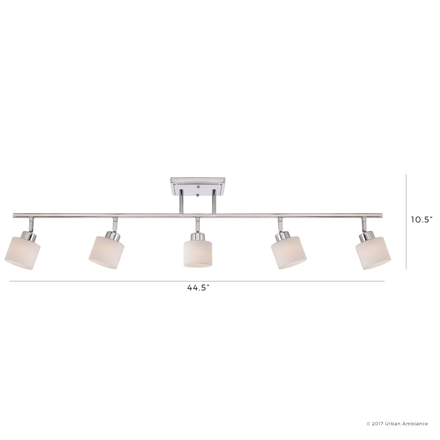 shop luxury modern track lighting 10 5 h x 44 5 w with spa style