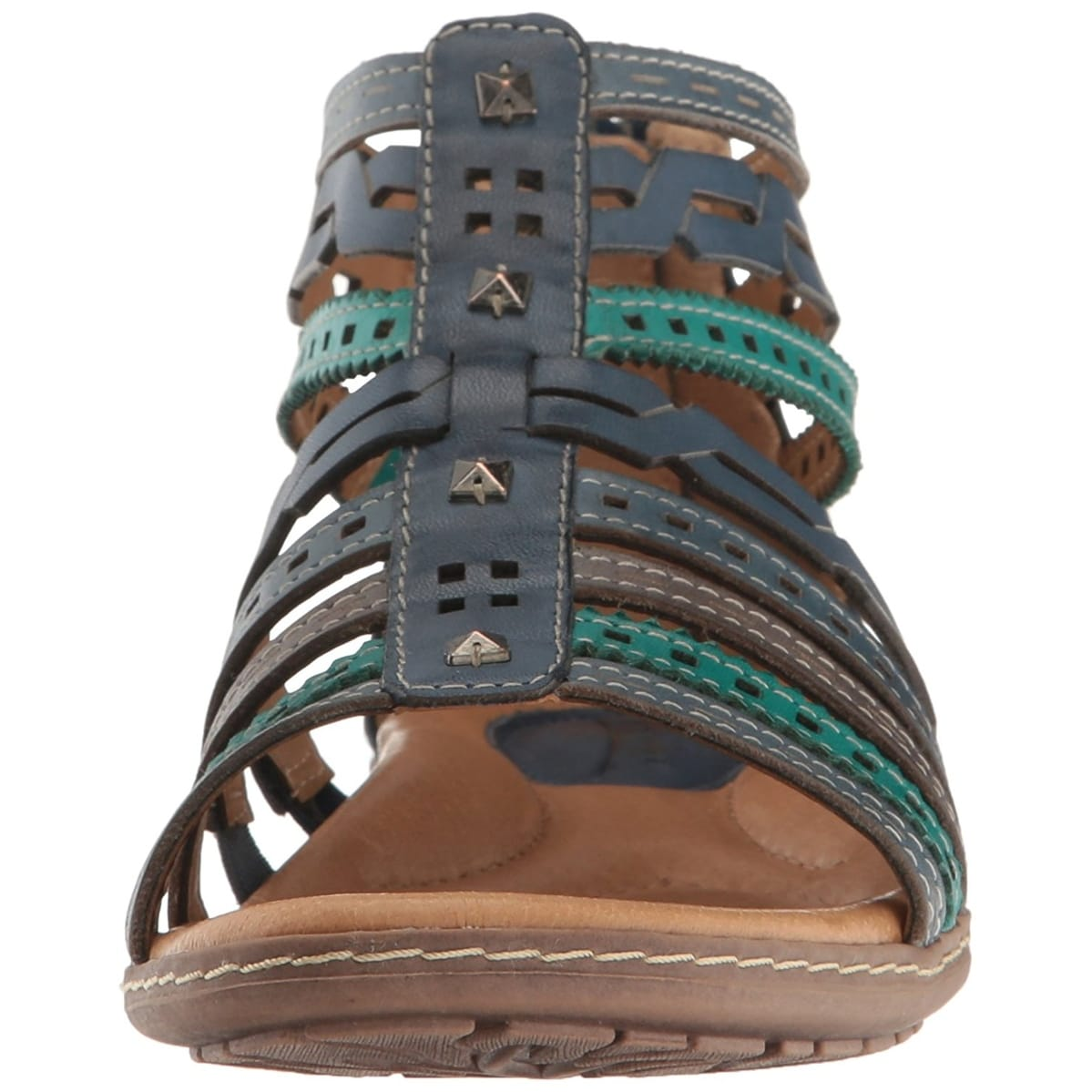 2b48fc35af75 Shop Earth Womens Bay Leather Open Toe Casual Gladiator Sandals - Free  Shipping Today - Overstock - 19855144