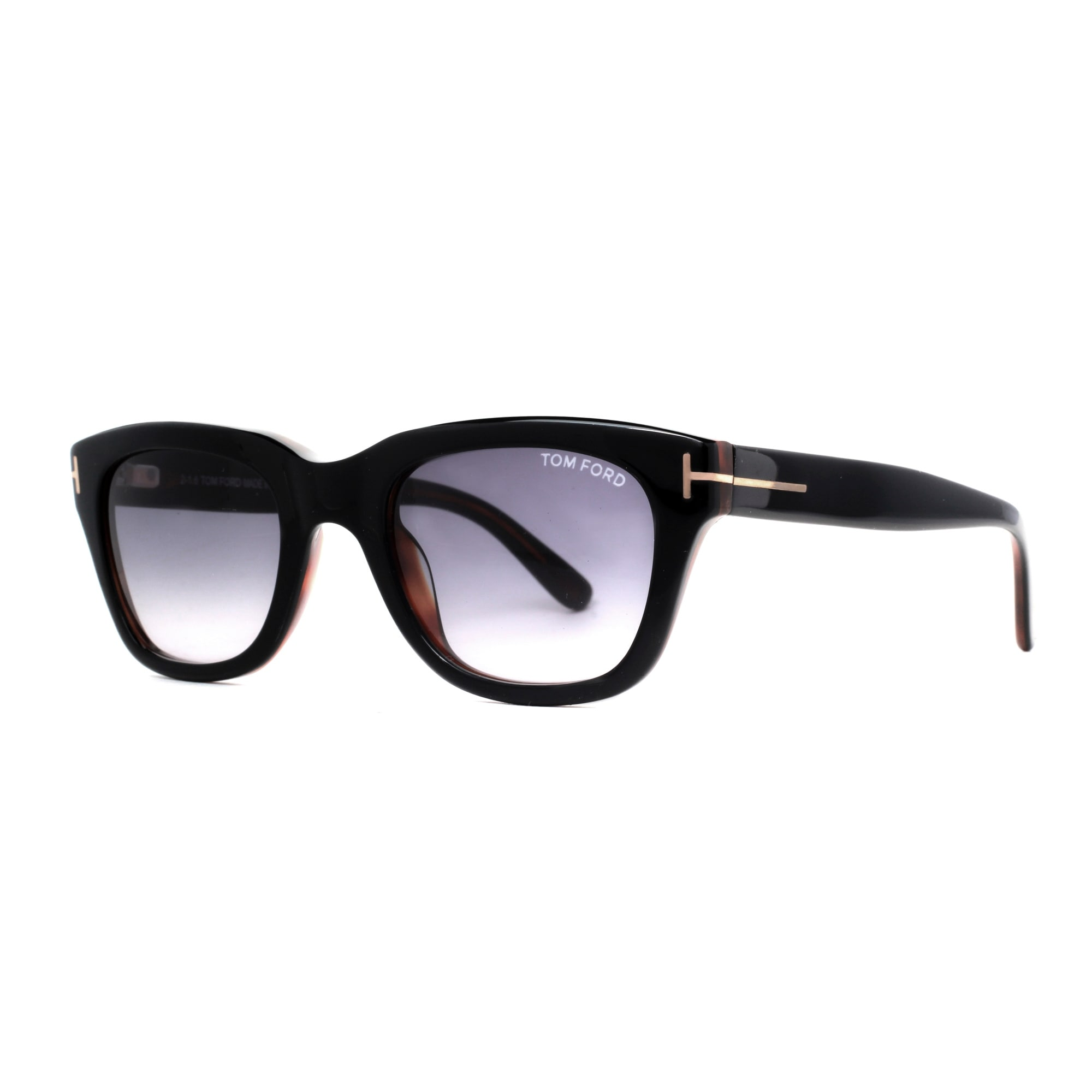 b39e4f34cc Tom Ford Snowdon TF 237 05B 50mm Shiny Black Gray Gradient Men Square  Sunglasses - Black brown - 50mm-21mm-145mm