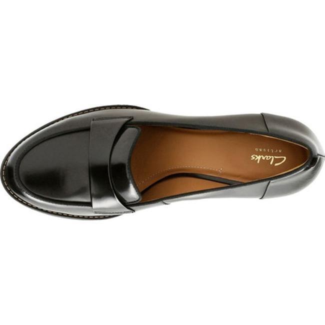 97fcbaefb4d Shop Clarks Women s Tarah Grace Loafer Black Full Grain Leather - Free  Shipping Today - Overstock - 17417401