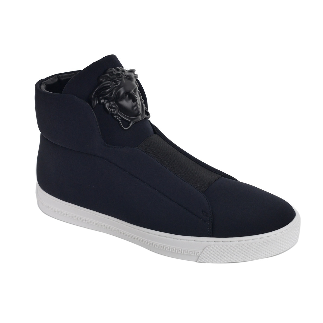7880adcde Shop Versace Mens Black Palazzo Medusa Head High Top Sneakers - Free  Shipping Today - Overstock - 22995138