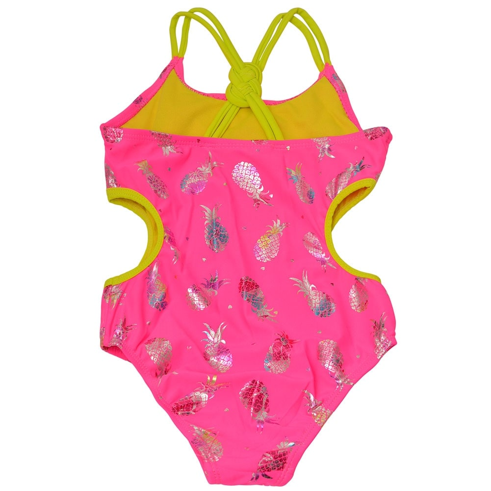 2312bb5538e Limited Too Little Girls Hot Pink Pineapple Monokini One Piece Swimsuit