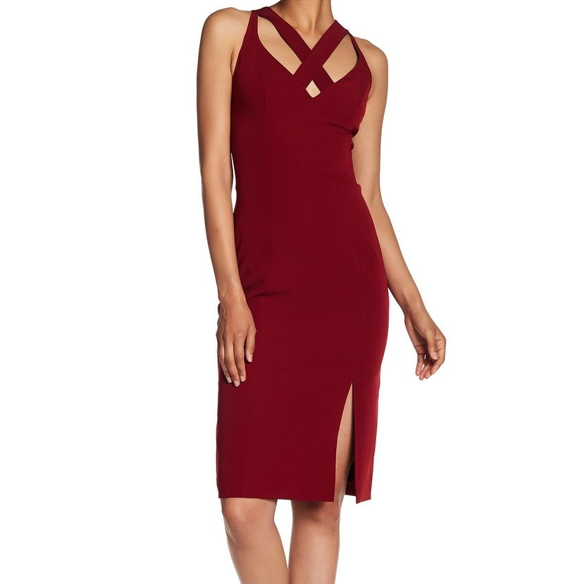 Shop Laundry by Shelli Segal Red Women s Size 2 Cross Sheath Dress - Free  Shipping On Orders Over  45 - Overstock.com - 27056943 0215cc73f5