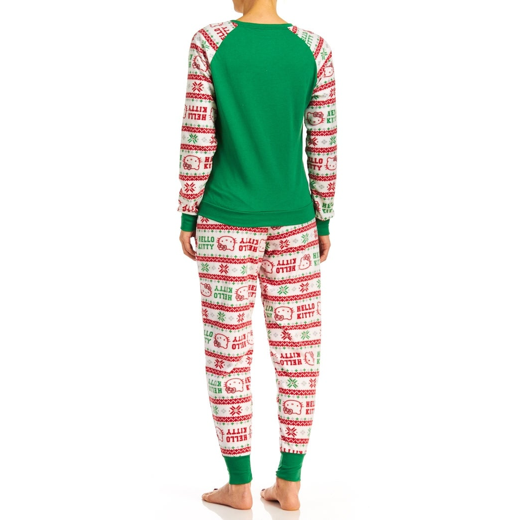 shop hello kitty womens holly jolly kitty christmas pajama set free shipping on orders over 45 overstockcom 18226345 - Womens Christmas Nightgowns