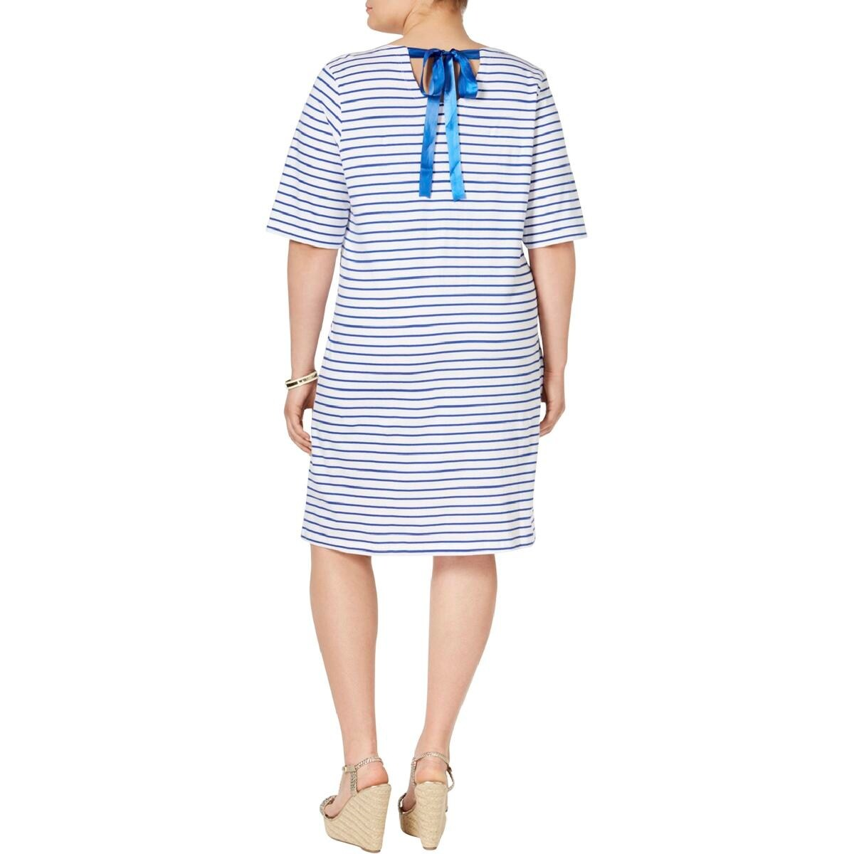 Shop Junarose Womens Plus T Shirt Dress Casual Knee Length Free