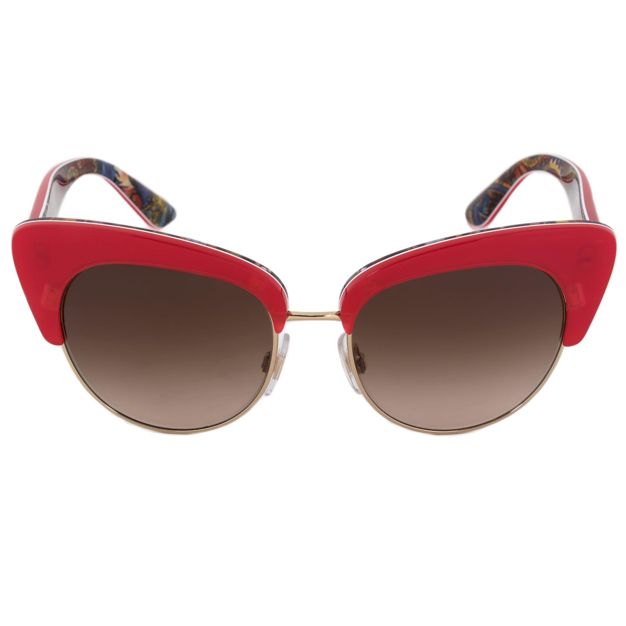 6451a1487f0b Shop Dolce   Gabbana Cat Eye Sunglasses DG4277 303413 52 - Free ...