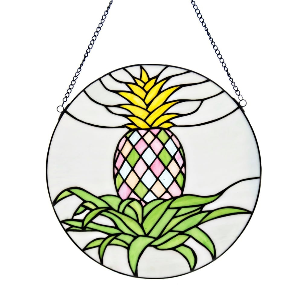 shop river of goods 16378 16 inch diameter tiffany style blooming HVAC Logo Ideas shop river of goods 16378 16 inch diameter tiffany style blooming pineapple stained g yellow green free shipping today overstock 22910820