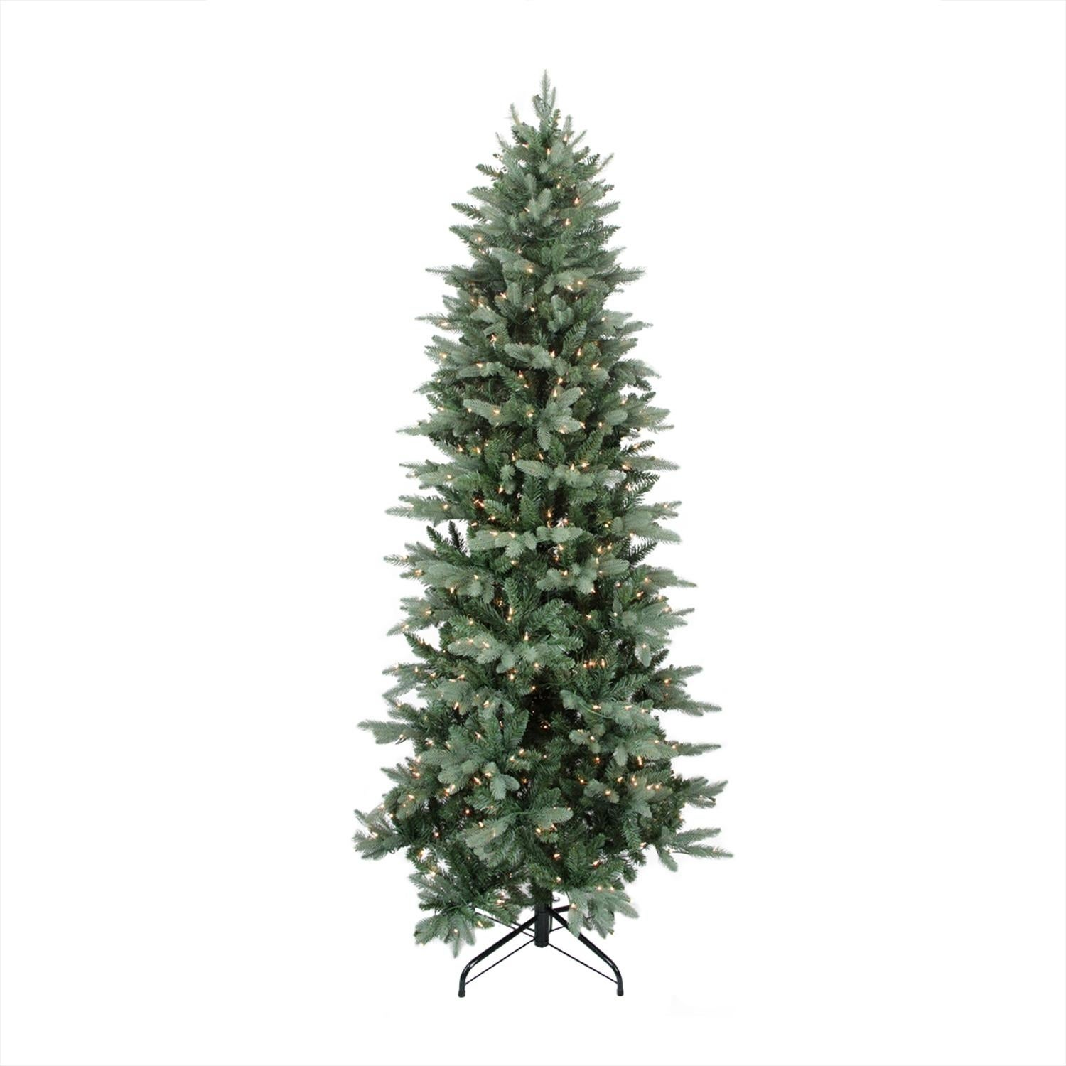 shop 9 x 49 pre lit washington frasier fir slim artificial christmas tree clear lights green free shipping today overstockcom 16540860 - Frasier Christmas Tree