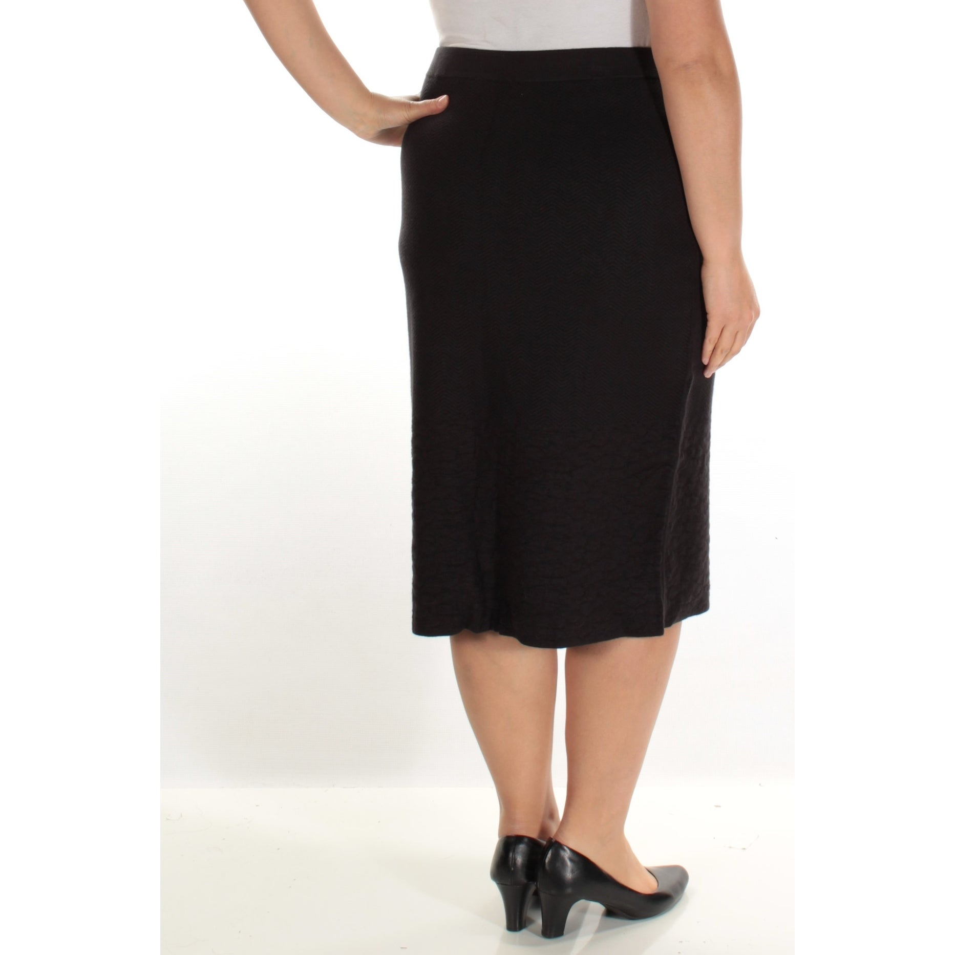 e5e03d69fbd81d Shop Womens Black Below The Knee Pencil Wear To Work Skirt Size XL - Free  Shipping On Orders Over $45 - Overstock - 21348469