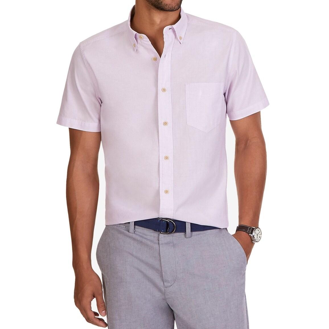 Shop Nautica New Purple Lavender Mens Size Xl Button Down Short