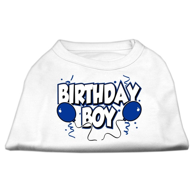 Shop Birthday Boy Screen Print Shirts White Sm 10