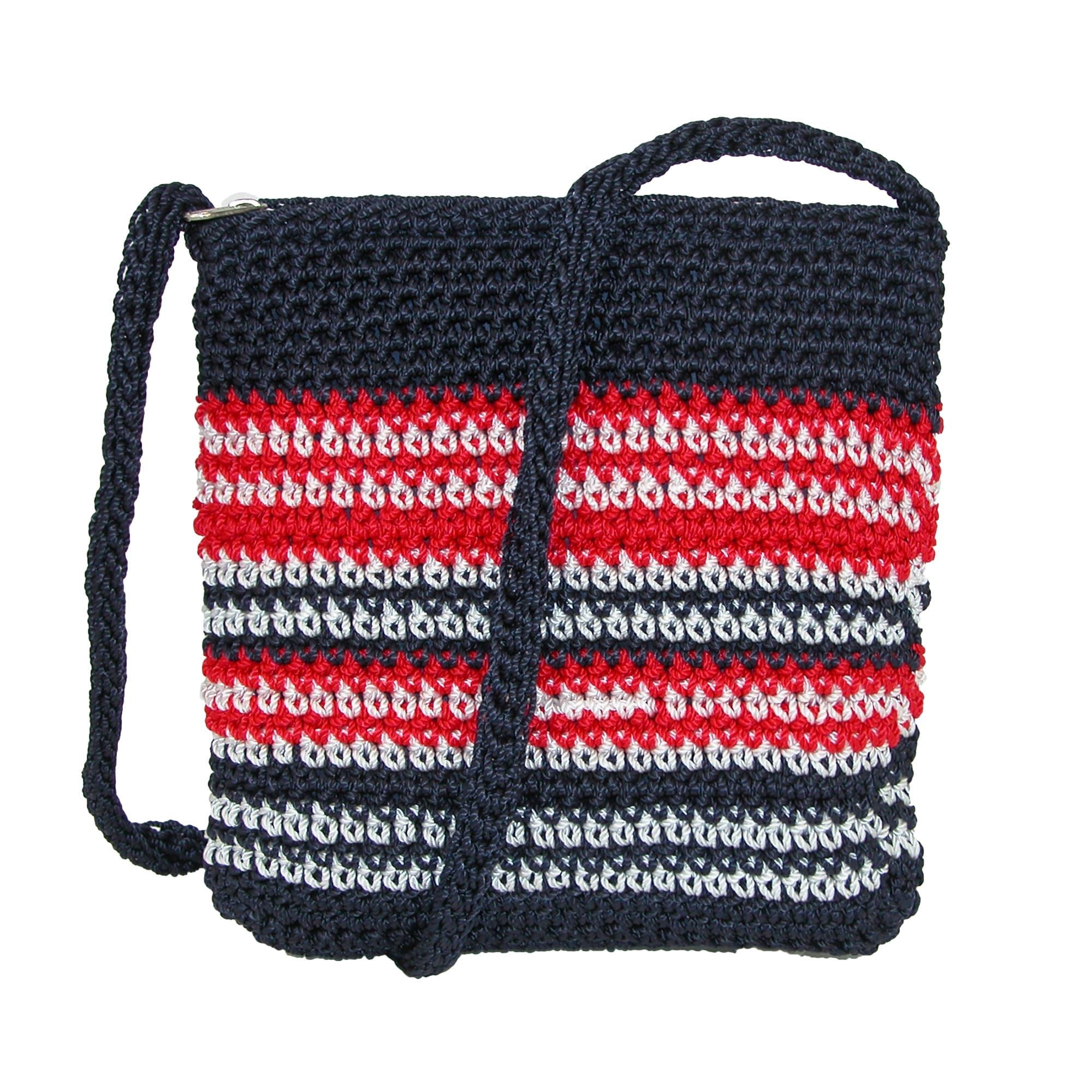 Shop Dynamic Asia Striped Crochet Cross Body Handbag One Size