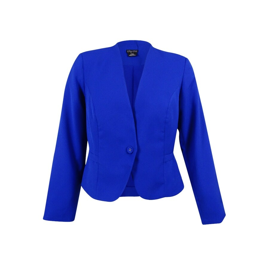 60d90b9b43d Shop City Chic Women s Plus Size Peplum-Back Blazer (S 16W