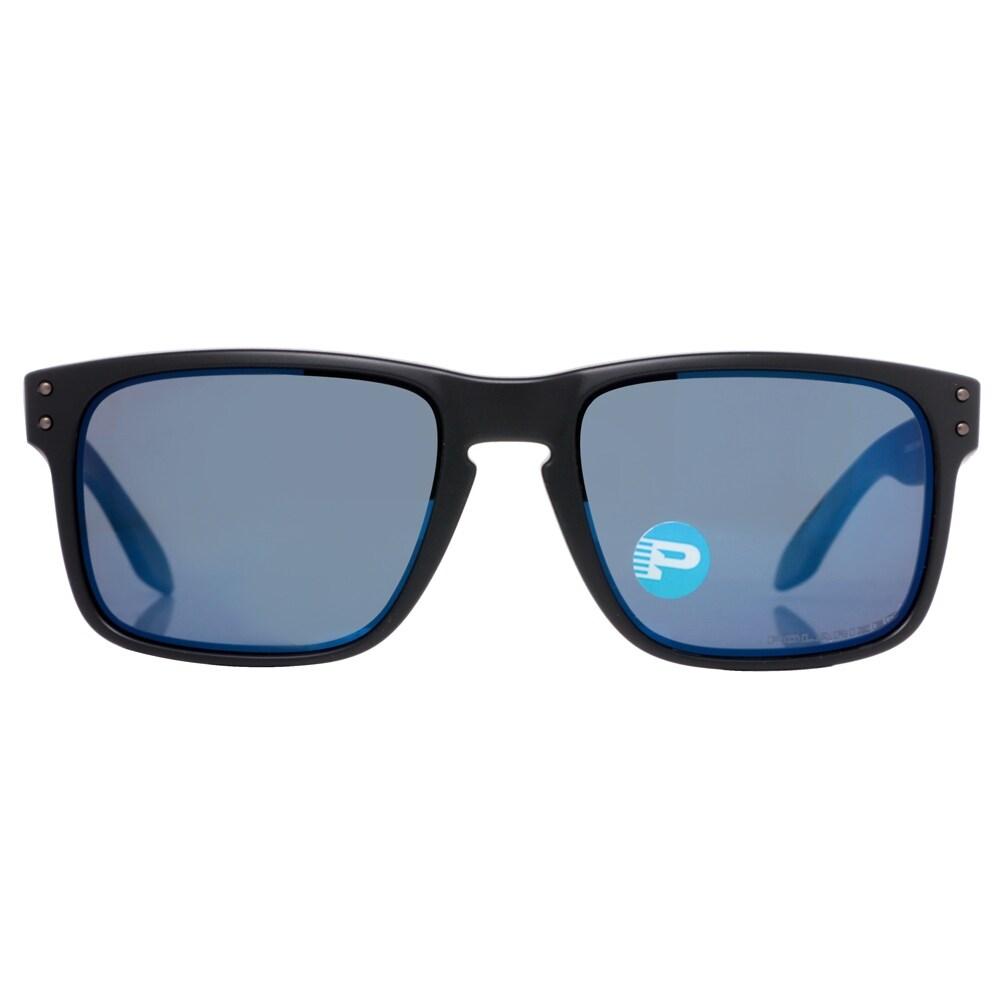 0b03cf6f503 ... norway shop oakley holbrook oo9102 52 matte black blue ice iridium  polarized sunglasses 55mm matte black