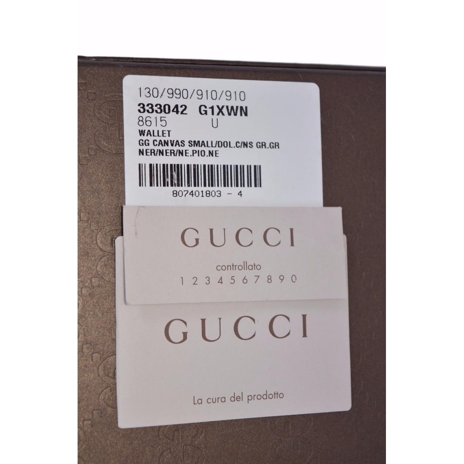 3909a3f05df093 Shop Gucci 333042 Black Nylon GG Guccissima Web Bifold Wallet W/Removable  ID - Free Shipping Today - Overstock - 18226700