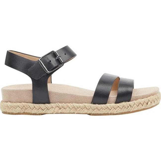 e080a8fe3de Shop Easy Spirit Women s Ixia Ankle Strap Espadrille Black Leather - Free  Shipping On Orders Over  45 - Overstock - 20713844