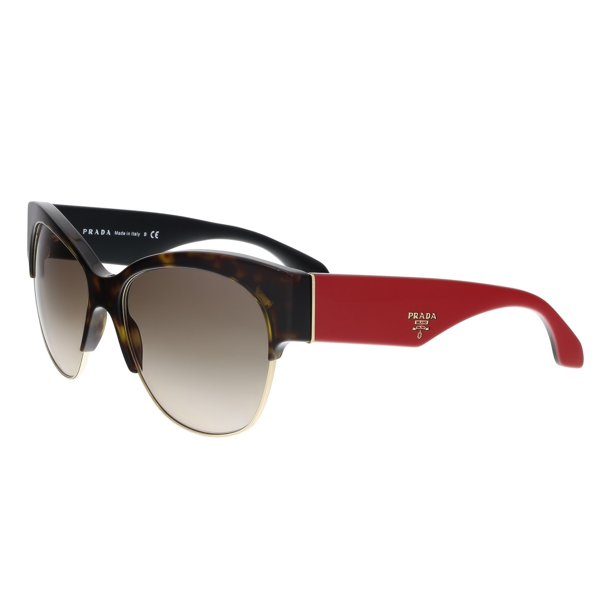 f46bf1dc01 Shop Prada PR 11RS 2AU3D0 Havana Round Sunglasses - 56-16-140 - Free ...