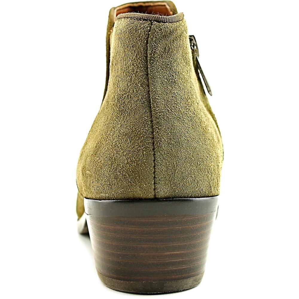 07eca9d297ab Shop Sam Edelman Petty Women Round Toe Suede Green Bootie - Free Shipping  Today - Overstock - 15445789