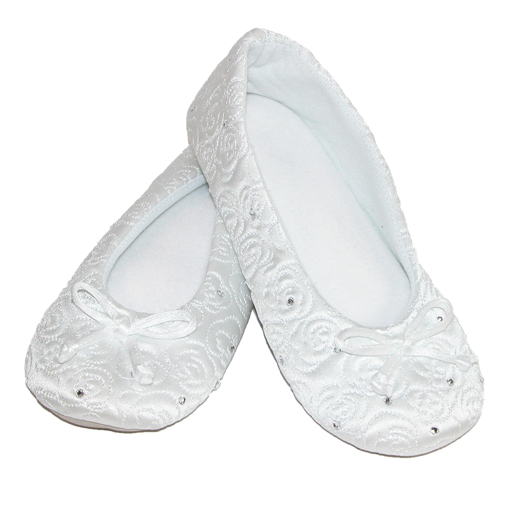d904a7e974a4 Shop Isotoner Women s Terry Lined Rose Quilted Ballerina Slippers - Free  Shipping On Orders Over  45 - Overstock - 14281489