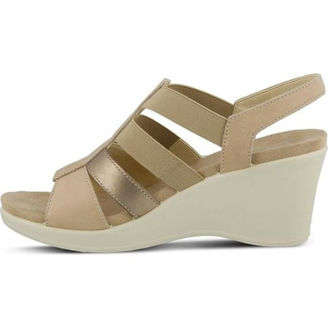 7fe13ed7a1ddbd Shop Flexus by Spring Step Women s Monnie Slingback Wedge Sandal Soft Gold  Leather - On Sale - Free Shipping Today - Overstock - 11865037