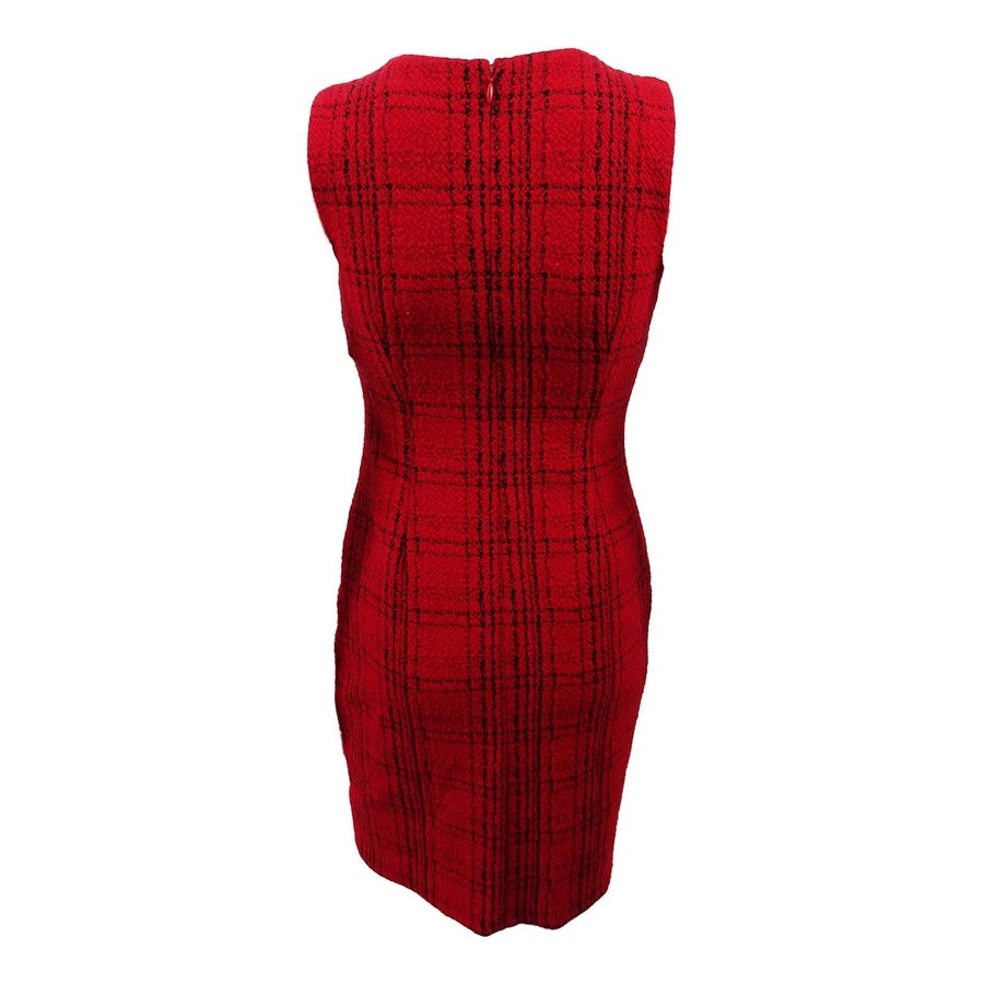 ba587b75 Shop Calvin Klein Women's Petite Plaid Sheath Dress - Red/Black - Free  Shipping Today - Overstock - 24226342