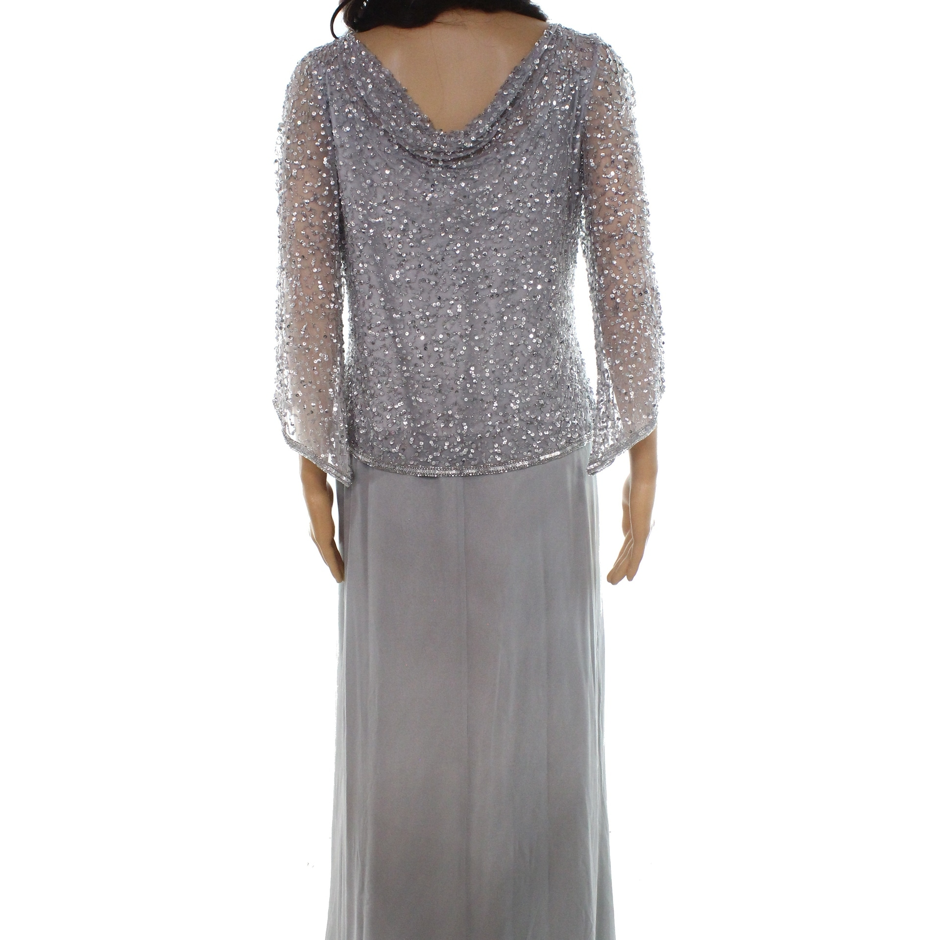 d2a6da81860 Shop J Kara Womens V-Neck Embellished Sequin Gown Dress - Free ...