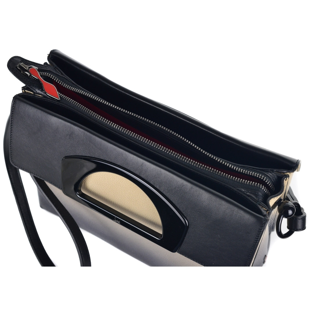 50f169670c5 Christian Louboutin Womens Passage Ombre Pebbled Leather Messenger Bag