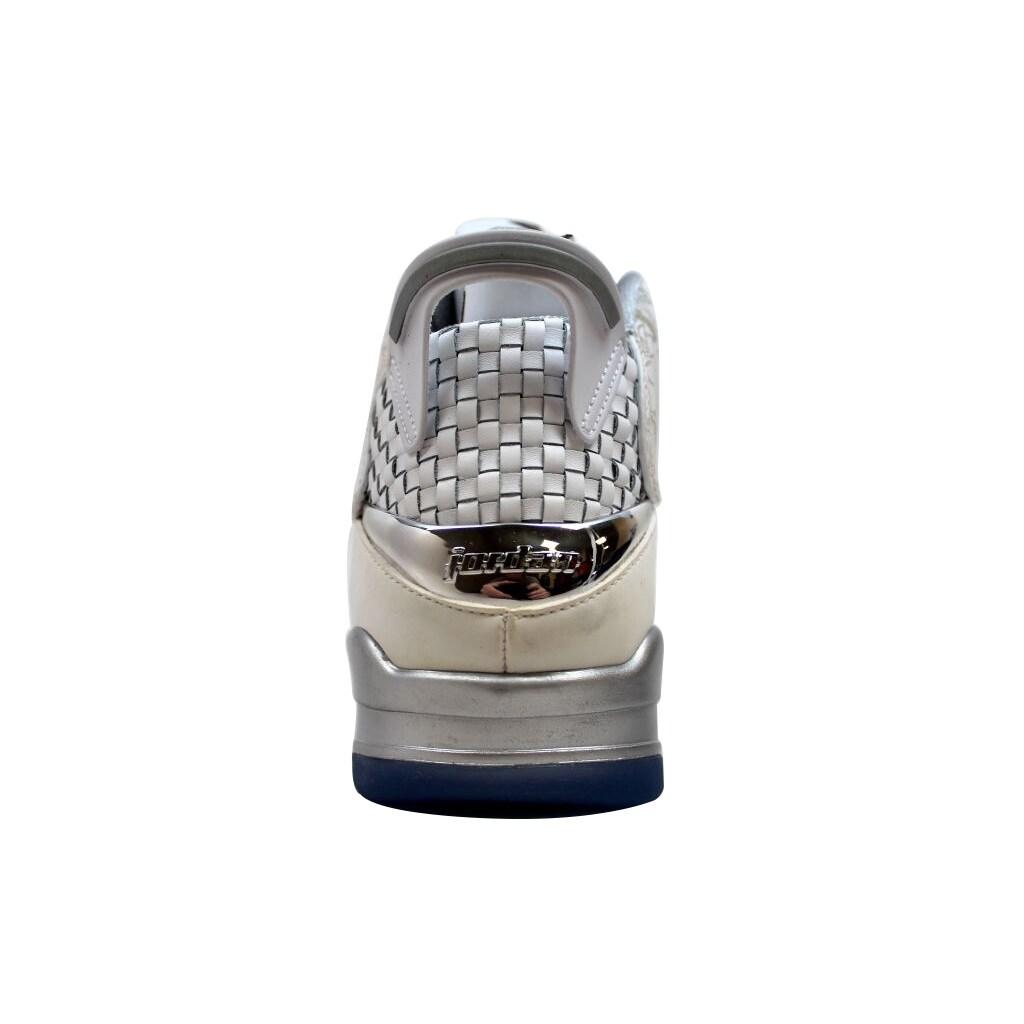 8b9e179e6e Shop Nike Men's Air Jordan Dub Zero Laser White/White-Metallic Silver Laser  705413-100 - Free Shipping Today - Overstock - 20197697