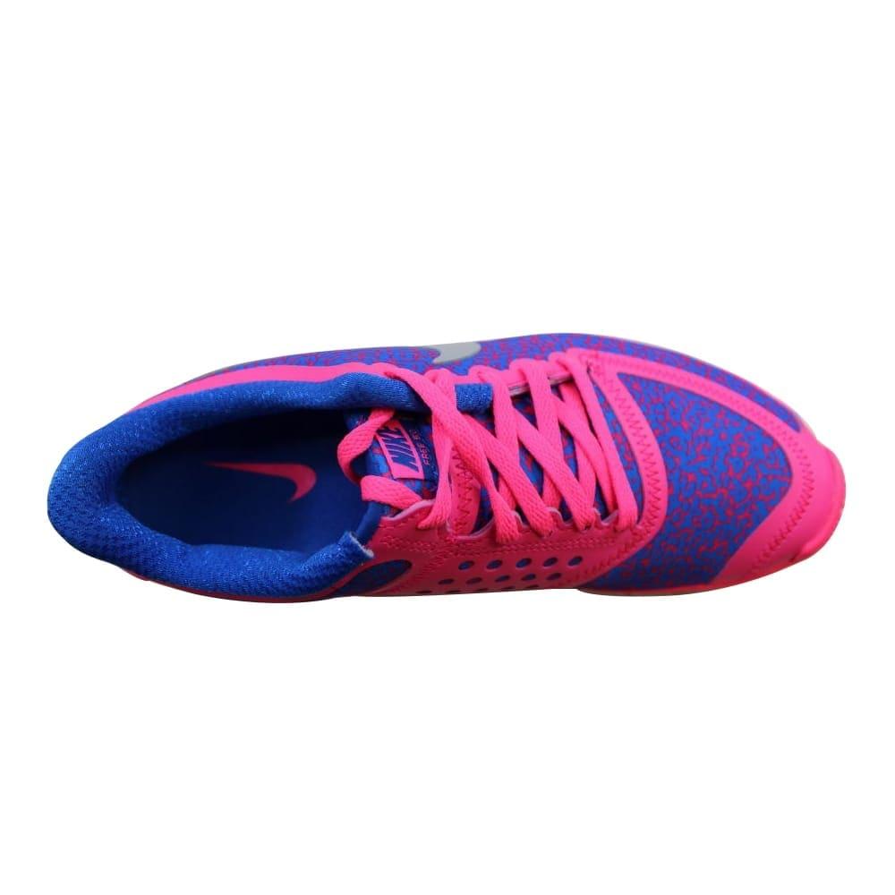 386c122d4b0e2 Shop Nike Free 5.0 V4 Hyper Pink Metallic Platinum-Hyper Cobalt 511281-605  Women s - Free Shipping Today - Overstock - 21893168
