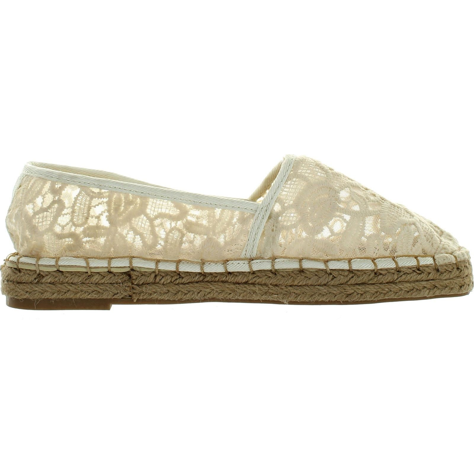b2a4b1aba Shop Dollhouse Womens Flirt Espadrille Lace Comfortable Fashion Flats Shoes  - beige lace - Free Shipping On Orders Over  45 - Overstock - 14384620