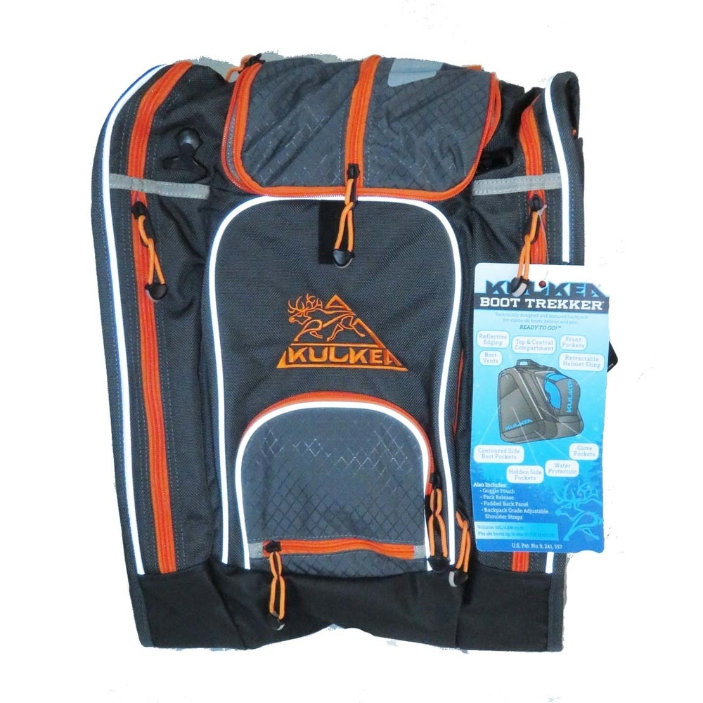 be10bc6ec7 Shop Kulkea Boot Trekker Grey Black Orange Ski Boot Backpack - Ships To  Canada - Overstock - 20108766