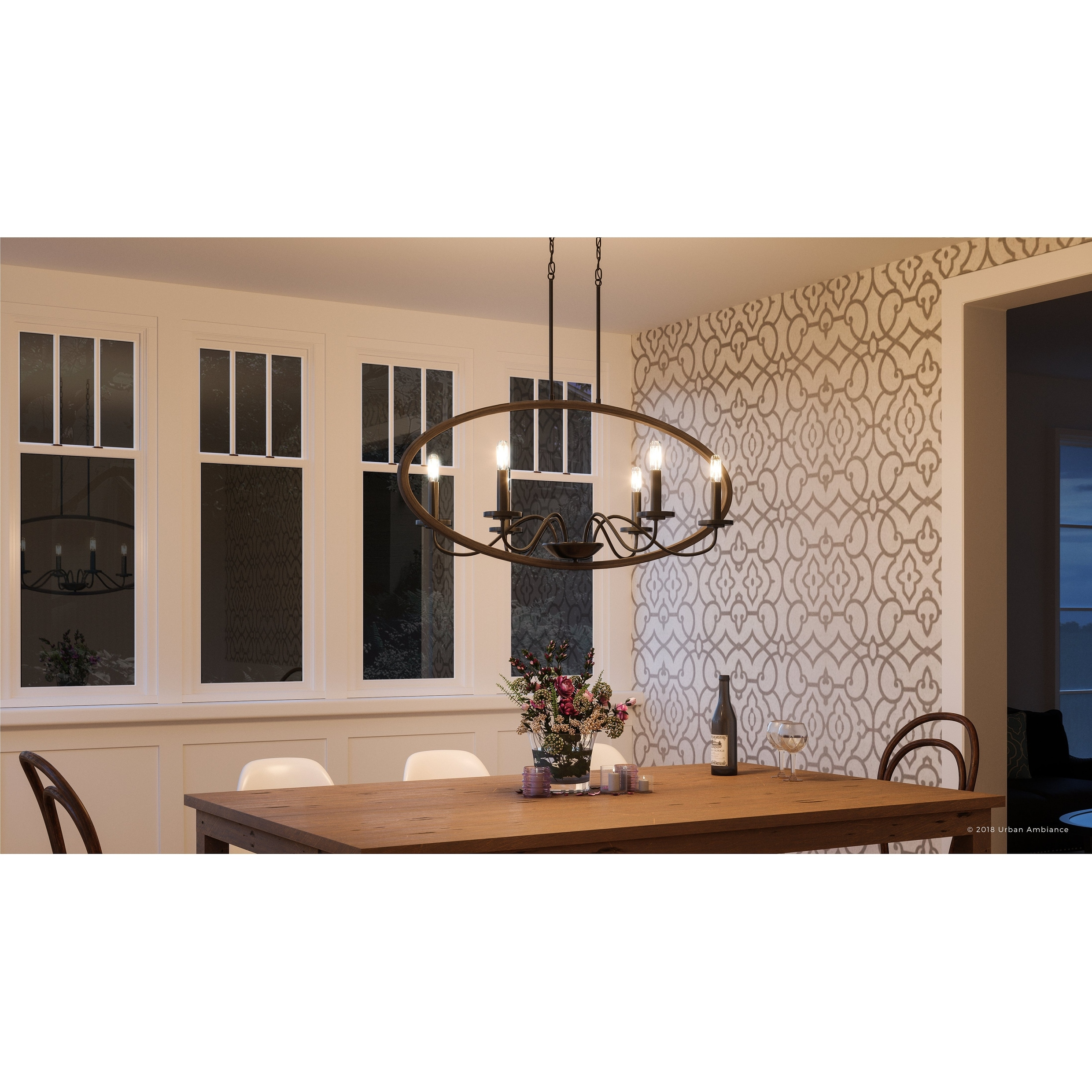 Shop luxury modern farmhouse chandelier 15 75h x 36w with english country style olde bronze finish by urban ambiance free shipping today