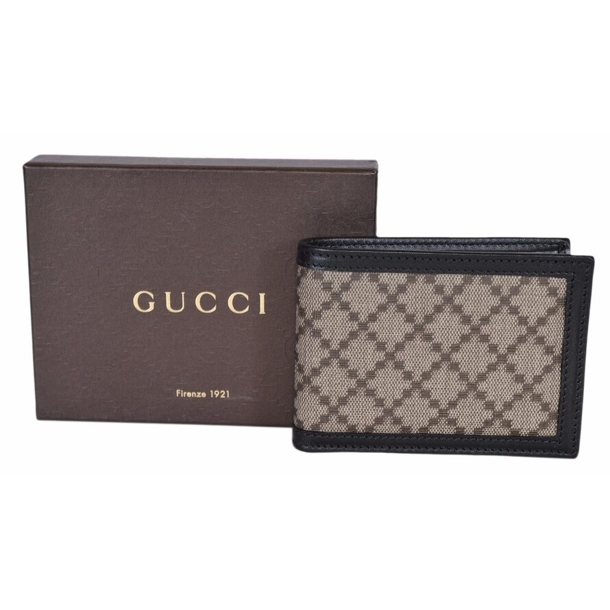 26a554cc3b7 Shop Gucci Men s 233157 Black Beige Diamante Canvas Mini GG Guccissima  Wallet - 4