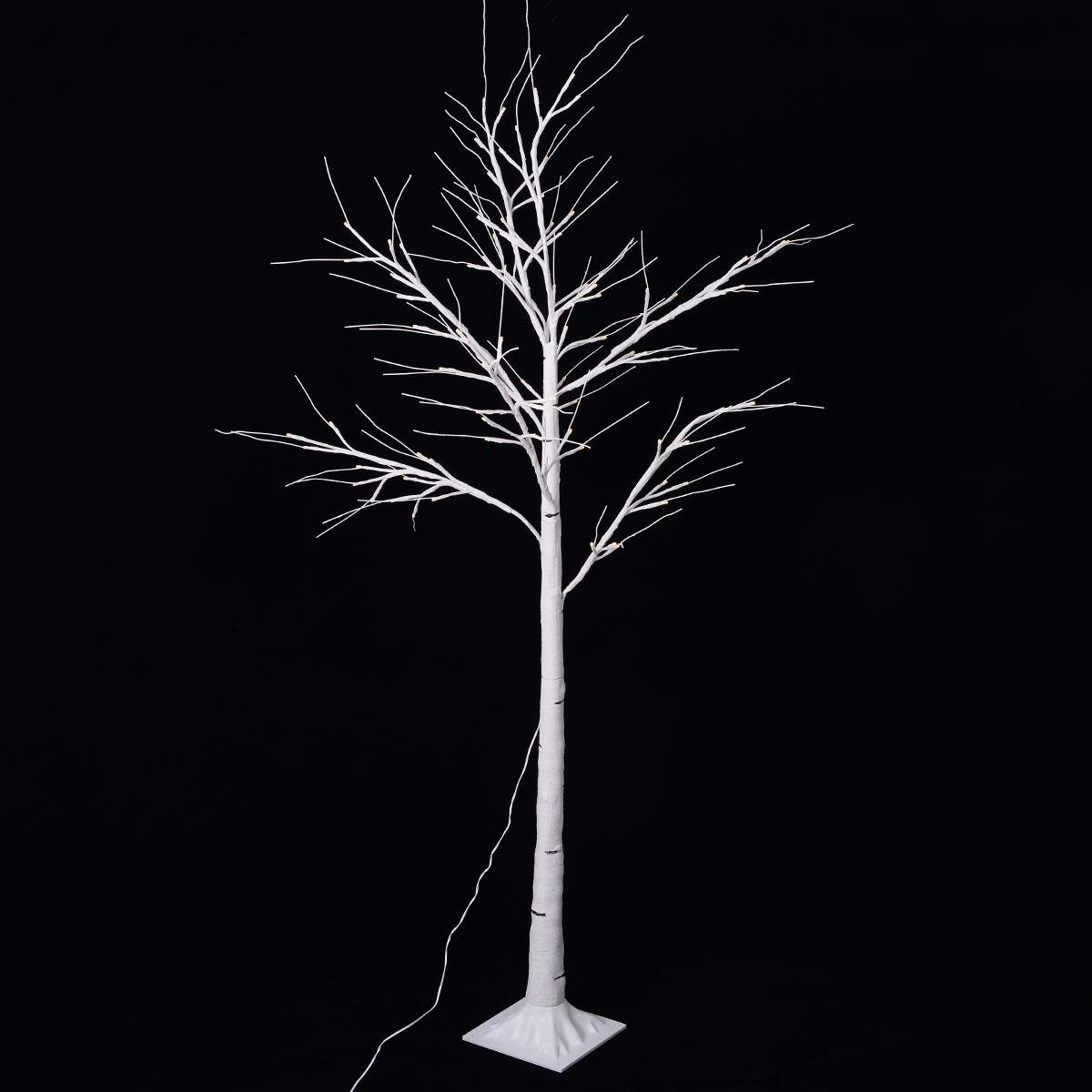 Costway Christmas Xmas White Birch Snow Tree LED Light Warm Decorative  Party Festival - Free Shipping On Orders Over $45 - Overstock.com - 24260619
