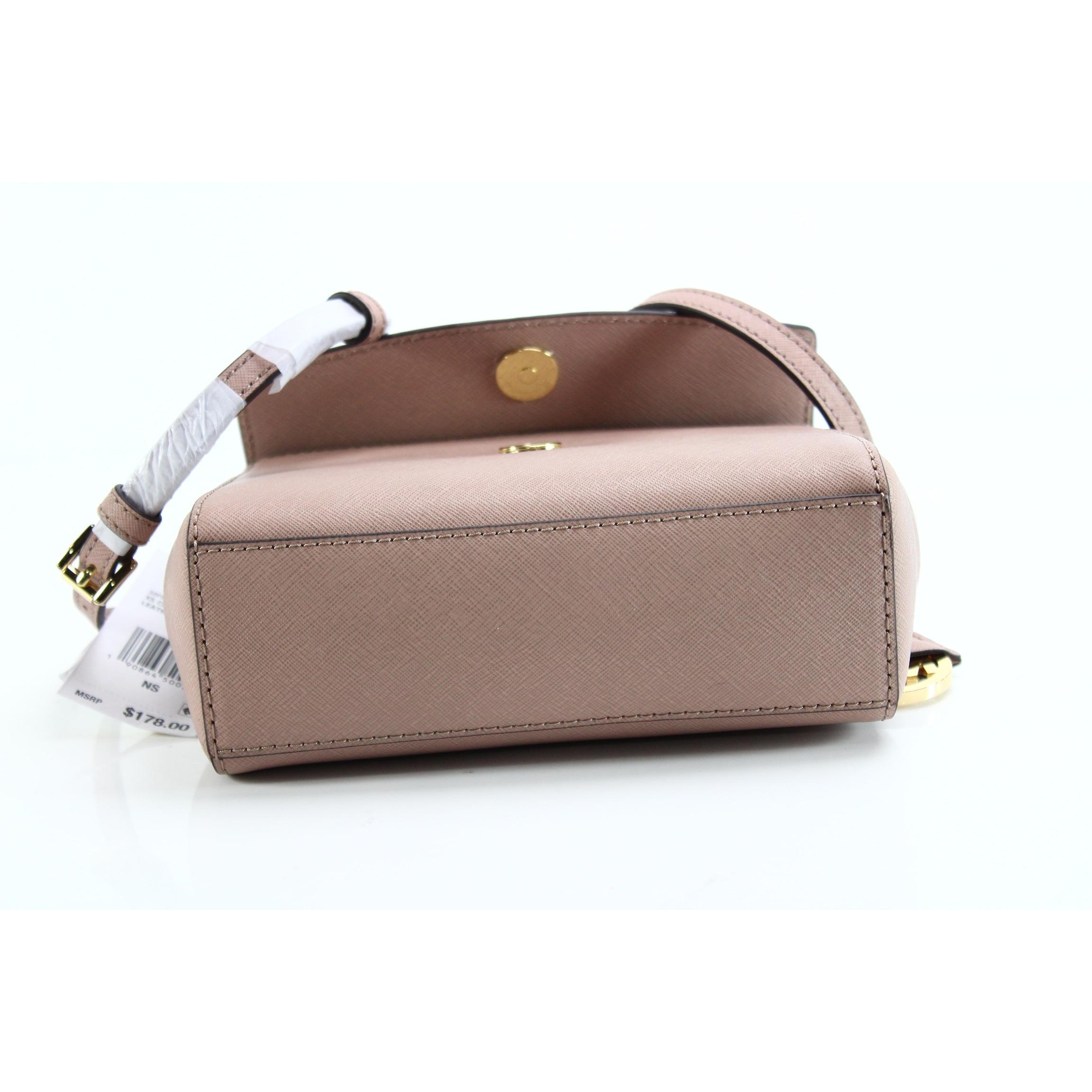 3fd15055a9c4 Shop Michael Kors NEW Pink Fawn Saffiano Ava Mini Crossbody Handbag Purse -  Free Shipping Today - Overstock - 20634935