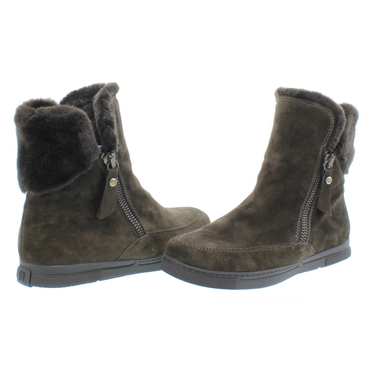 34410ddfaeb0 Shop Stuart Weitzman Womens Furgie Ankle Boots Suede Faux Fur Trim - Free  Shipping Today - Overstock - 23142505