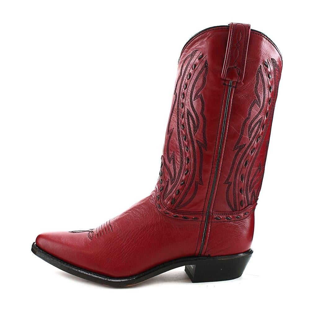 f644770abf Shop Abilene Boots 9002 Women Square Toe Leather Red Western Boot - Free  Shipping Today - Overstock - 13559648
