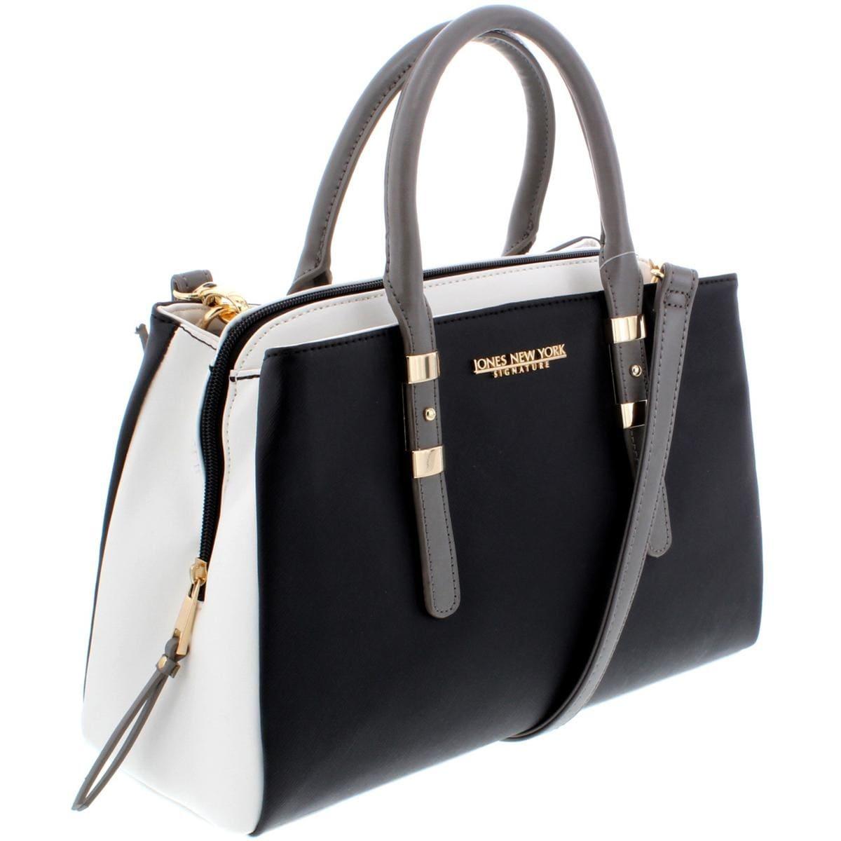 6a8922986b8 Shop Jones New York Womens Zara Satchel Handbag Faux Leather Logo - Medium  - Free Shipping On Orders Over $45 - Overstock - 22109690