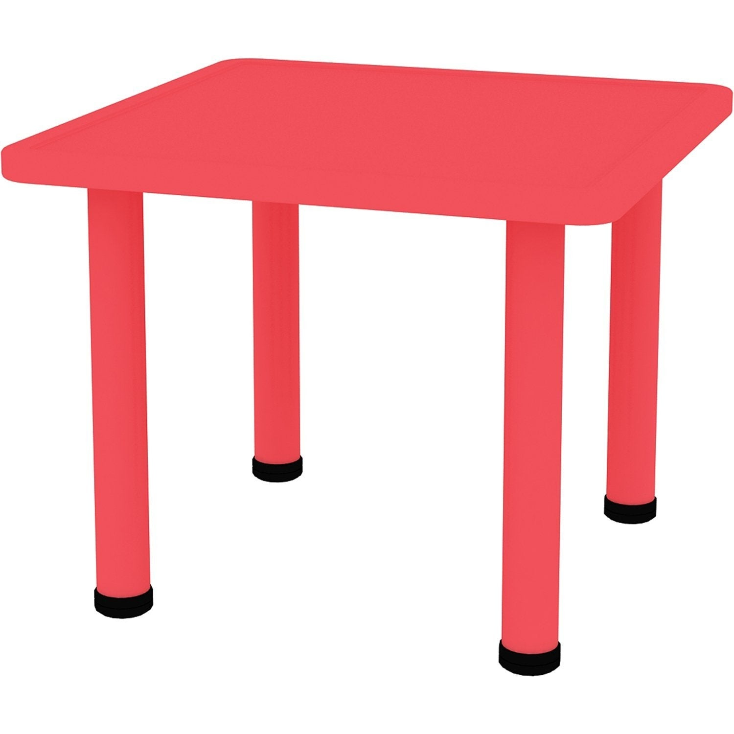 2xhome Red Kids Table Height Adjule 21 5 To 22 Square