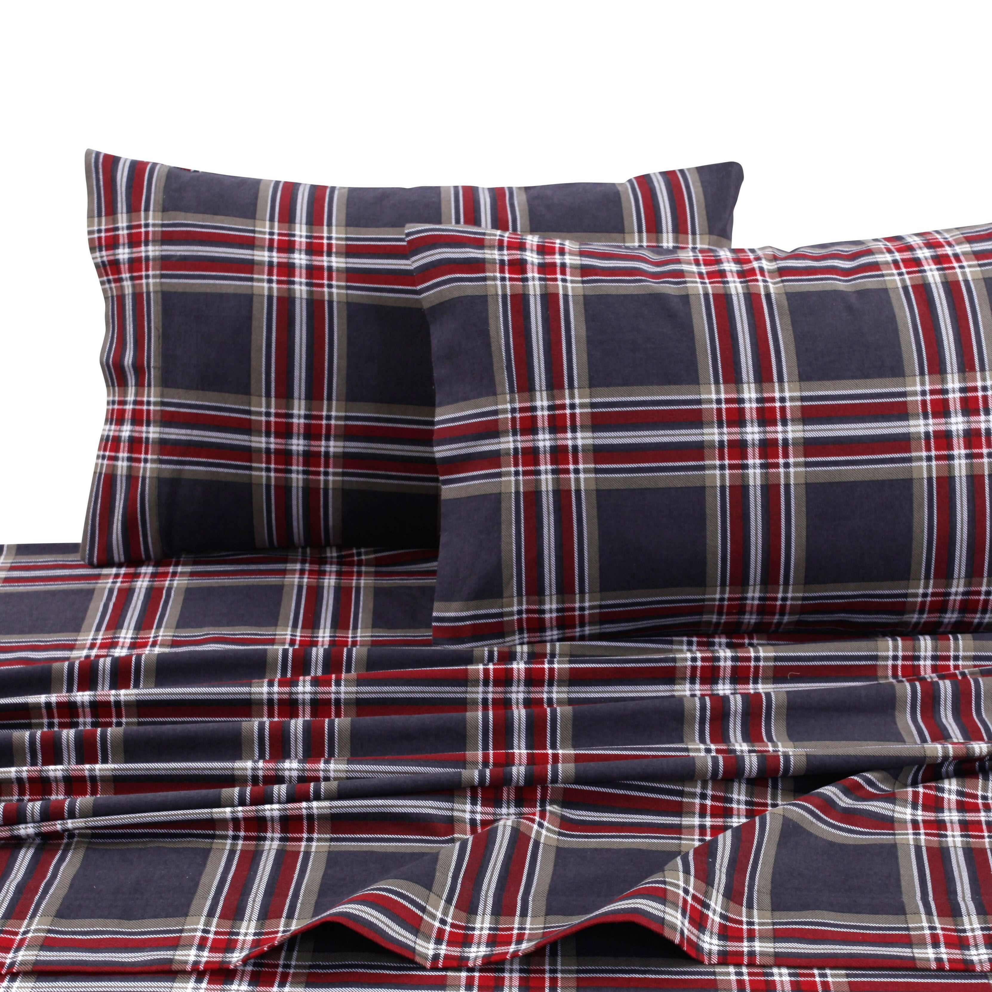 Cotton Flannel Extra Deep Pocket Bed Sheet Set With Oversize Flat Sheet On Sale Overstock 13311327