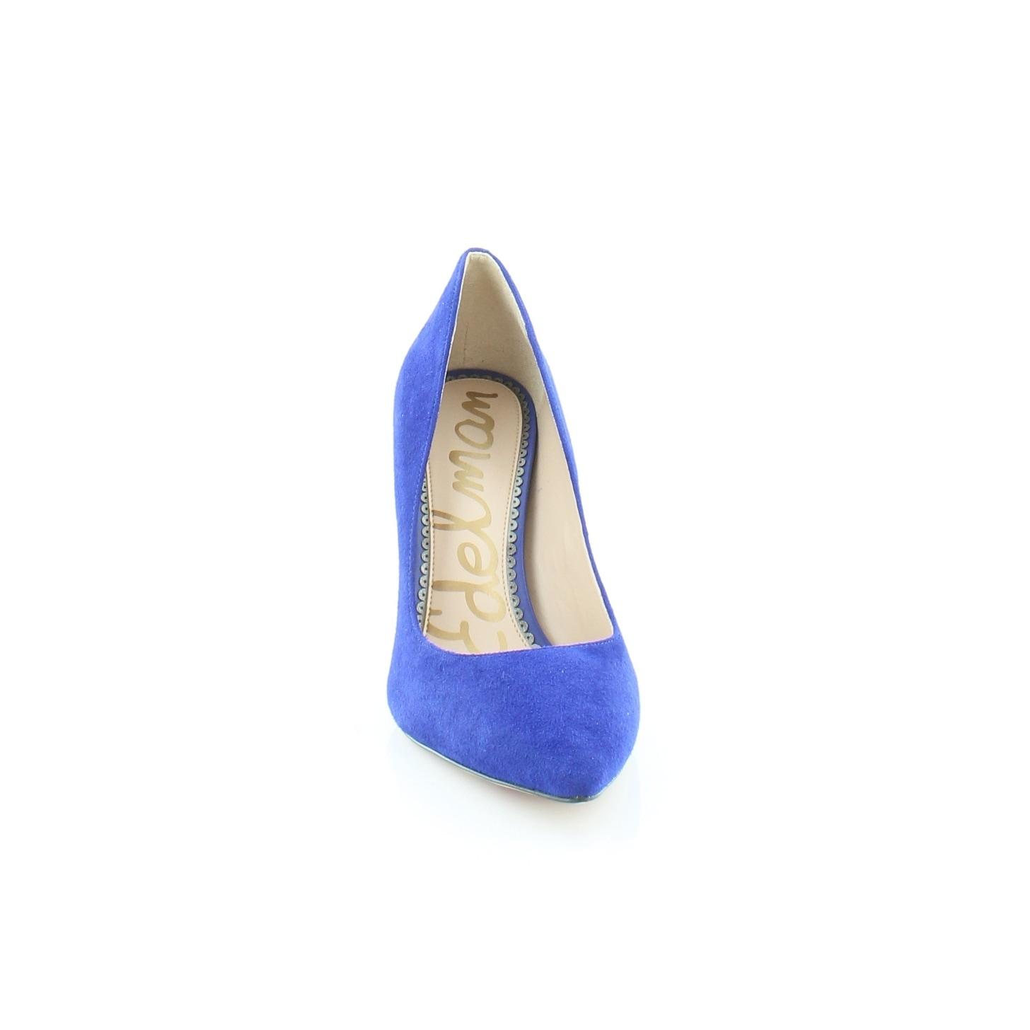 1aef01cd960cd4 Shop Sam Edelman Hazel Women s Heels Deep Blue - Free Shipping Today -  Overstock - 25582819