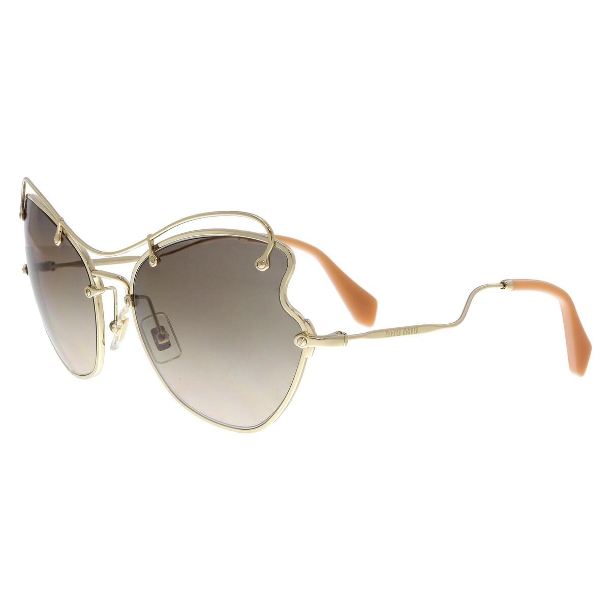 7eb547cf3d2 Shop MIU MIU MU56RS ZVN3D0 Pale Gold Butterfly Sunglasses - No Size ...