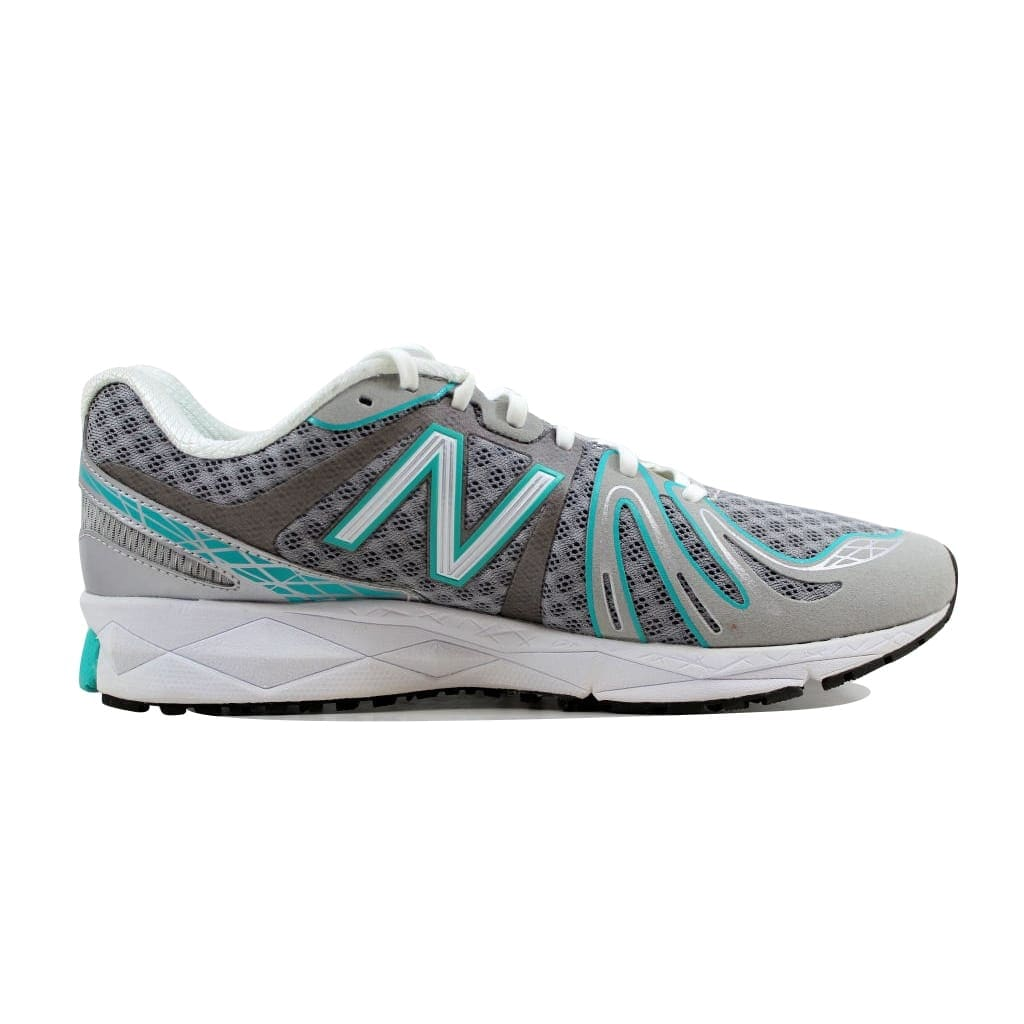 low priced 1b338 c2d03 Shop New Balance Women s Revlite 890 Silver Teal-White W890SG2 - Free  Shipping Today - Overstock - 22531356