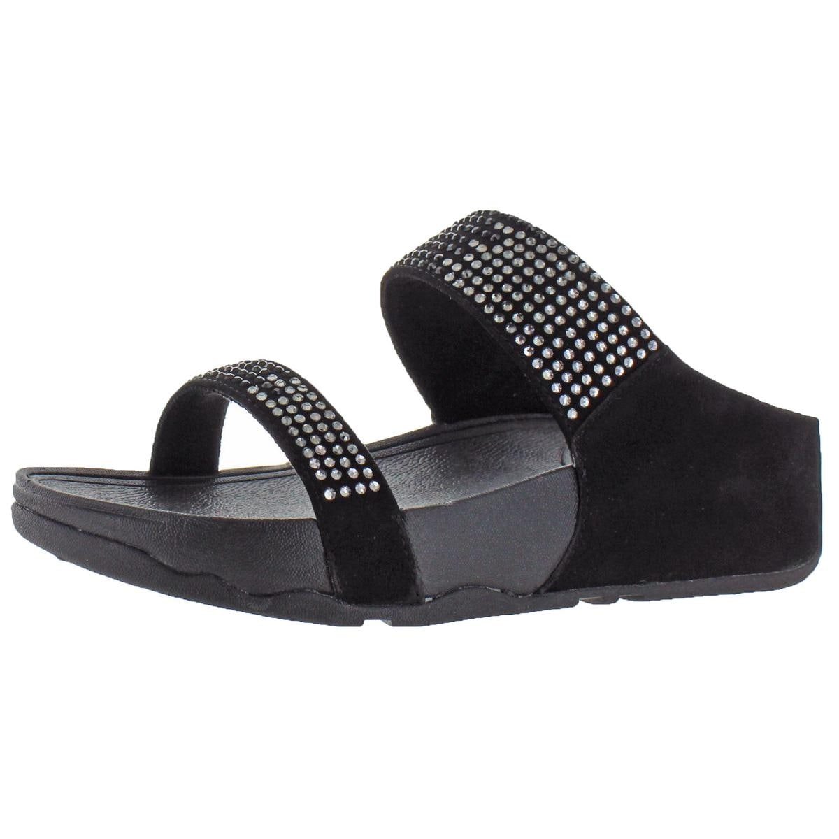 777f8816ae0a27 Shop Fitflop Womens Flare Slide Slide Sandals Suede Jeweled - Free ...
