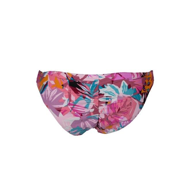 71414176c11dc Shop Hula Honey Pink Multi Palm Breeze Floral-Print Cheeky Bikini Bottom L  - Free Shipping On Orders Over $45 - Overstock - 24175284