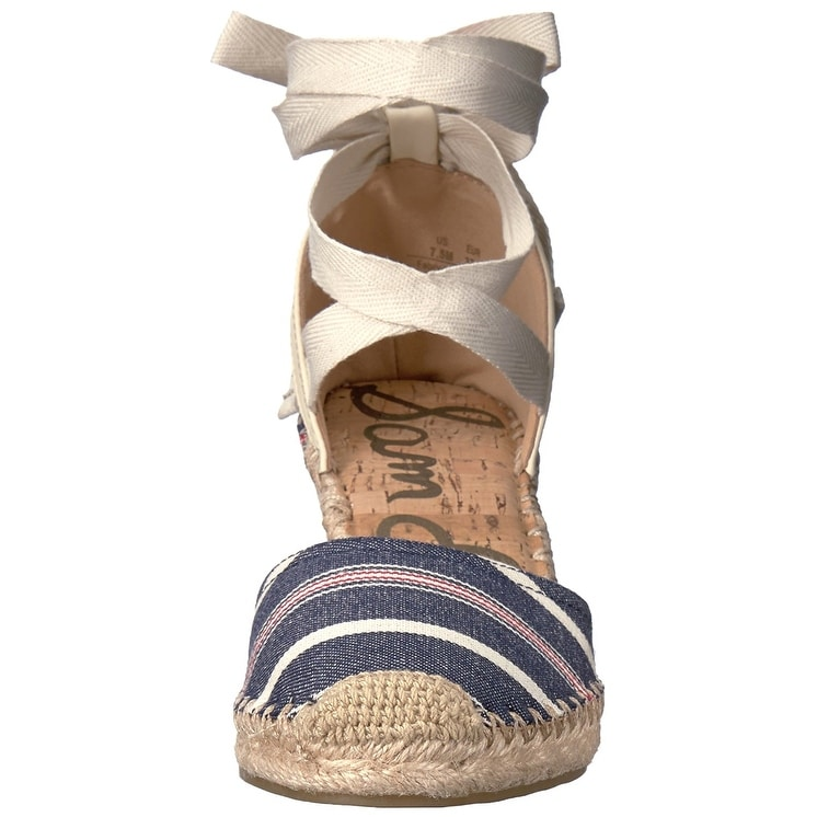 0a63ece6126a Shop Sam Edelman Women s Patsy Espadrille Wedge Sandal - Free Shipping Today  - Overstock.com - 21211777