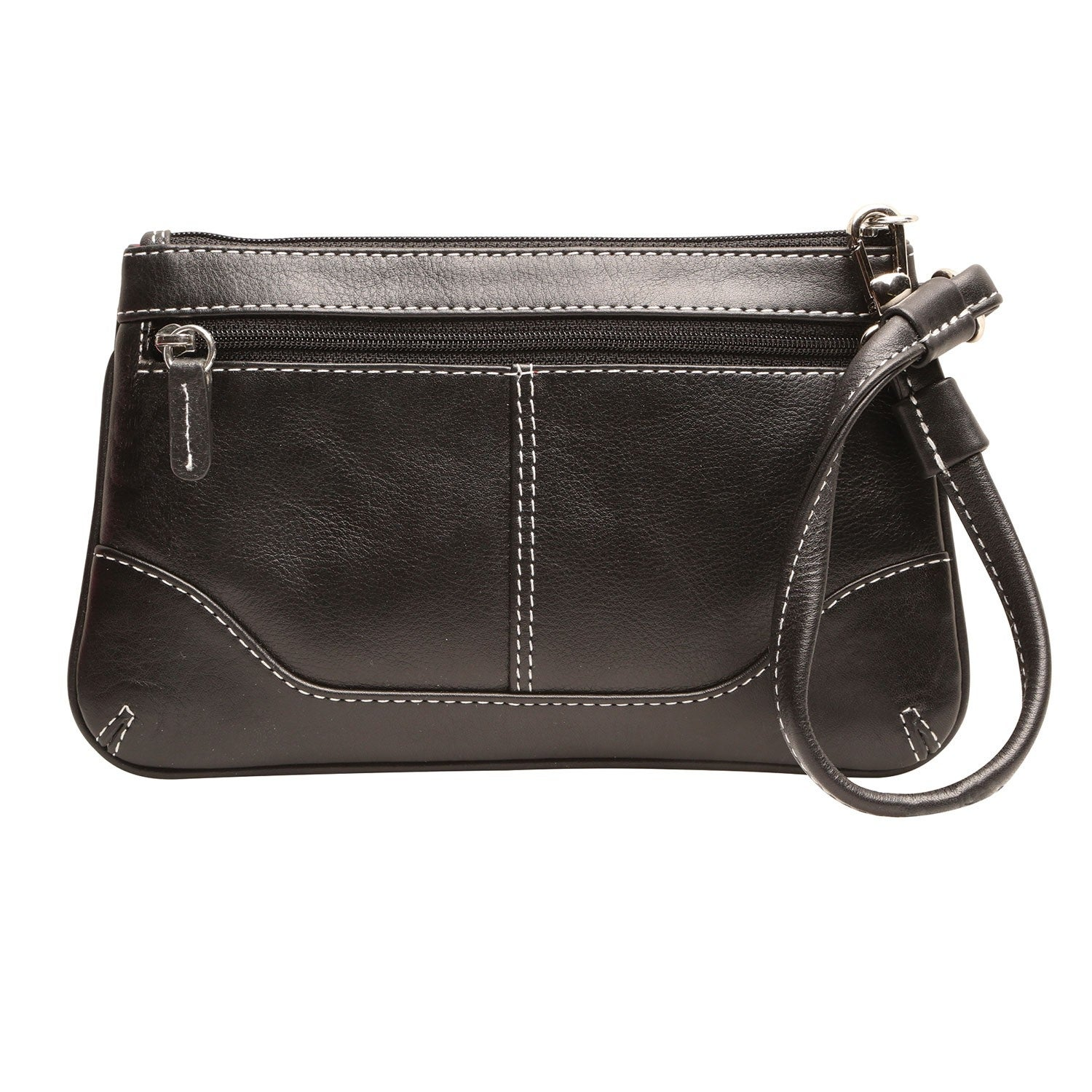 Ili Women S Sched Leather Wristlet Purse Zip Top Handbag With E Size On Free Shipping Orders Over 45